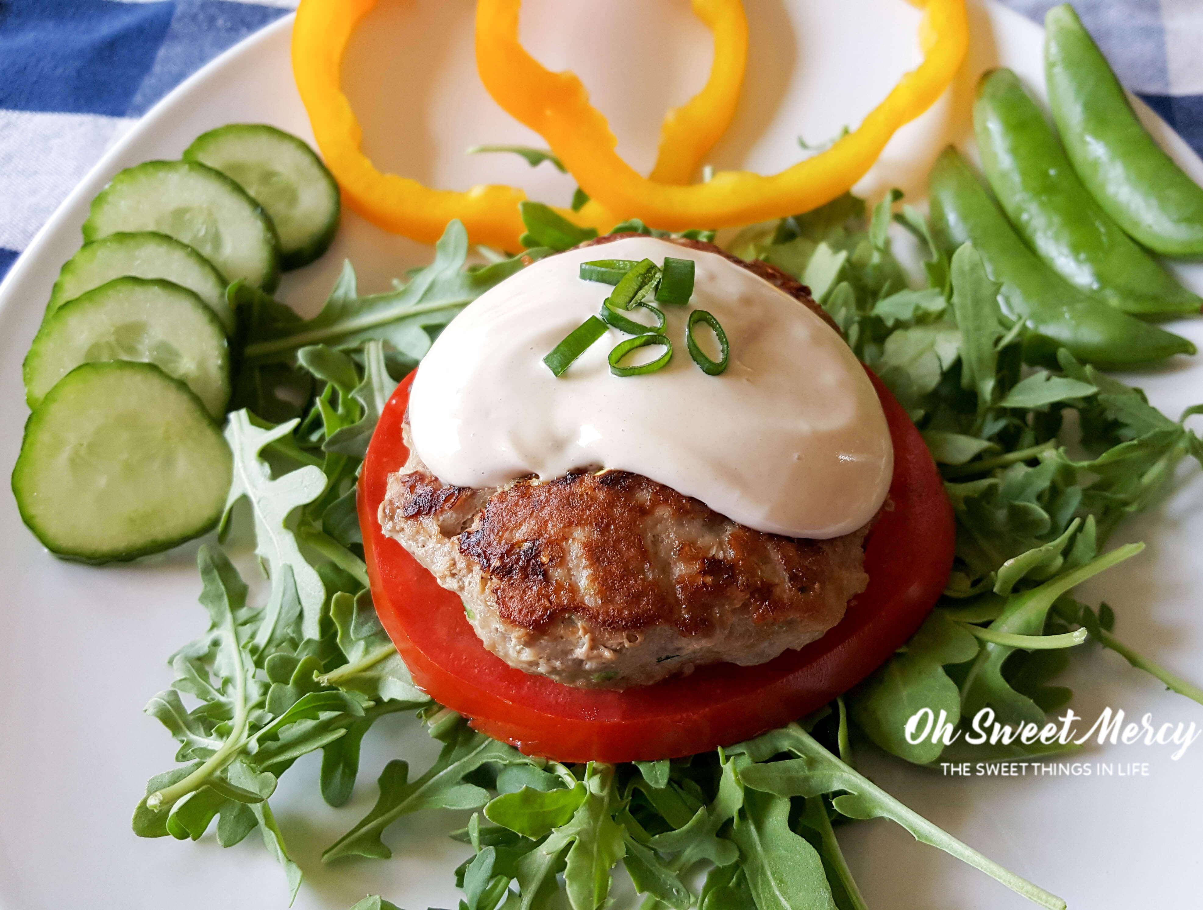 Garlic Zucchini Turkey Burgers with Creamy Dijon Sauce ...